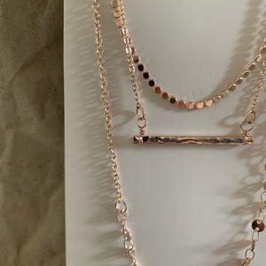 Arizona Rose Gold Choker/Layer Necklace